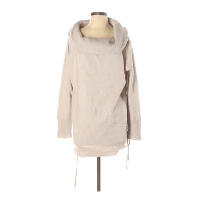 Easel - Easel Casual Dress - Sweater Dress: Tan Solid Dresses - Used - Size Small