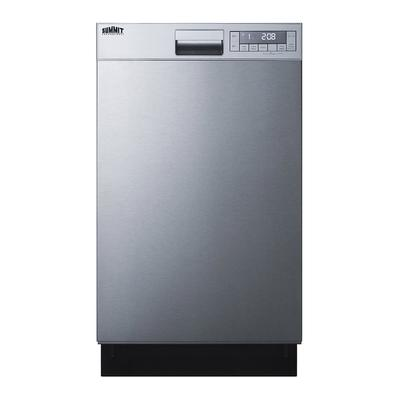"""Summit DW18SS4ADA 18"""" Built In Dishwasher w/ (5) Cycles & LED Display - ADA Compliant, Stainless Steel, 115v"""