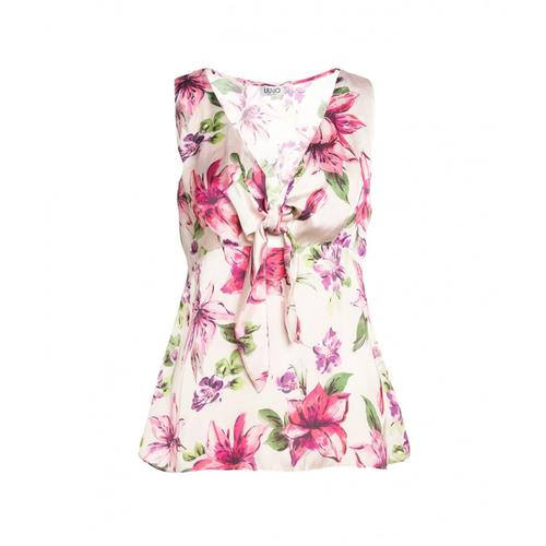 Liu Jo Damen Florale Bluse Pink