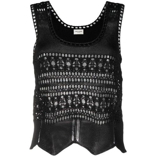 Saint Laurent Gehäkeltes Top