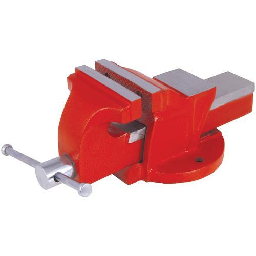 Connex Schraubstock, 80 mm, feststehend rot Schraubstöcke Werkzeug Maschinen Schraubstock