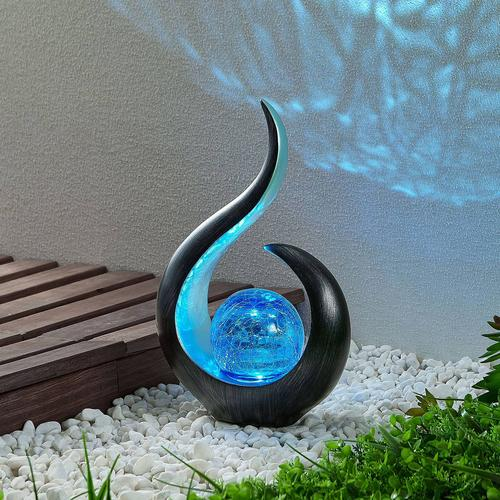 Lindby Jasem Solar-LED-Dekoleuchte, blaue Kugel