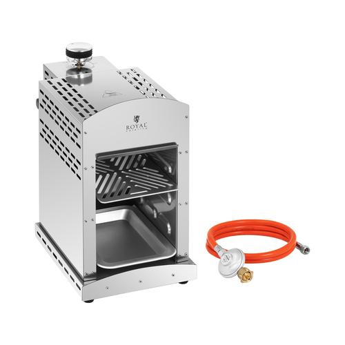 Royal Catering Set Oberhitzegrill mit Druckminderer - 3.500 W - 800 °C RCGGS-12-SET-1