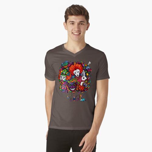 Alice & Wasserpfeife t-shirt:vneck