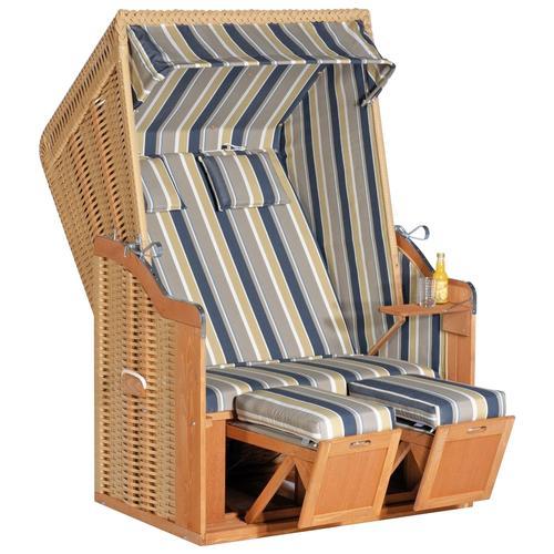 SunnySmart Strandkorb Rustikal 50 Plus beige Strandkörbe Garten, Terrasse Balkon