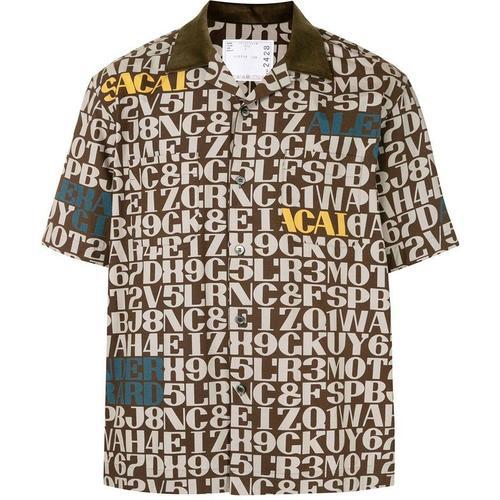 Sacai Hemd mit Schriftzug