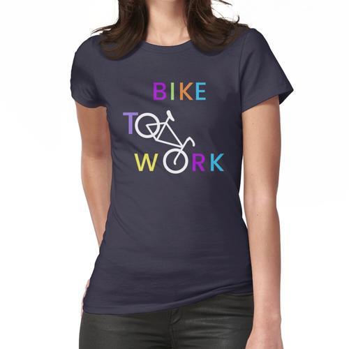 Fahrrad zur Arbeit. Frauen T-Shirt