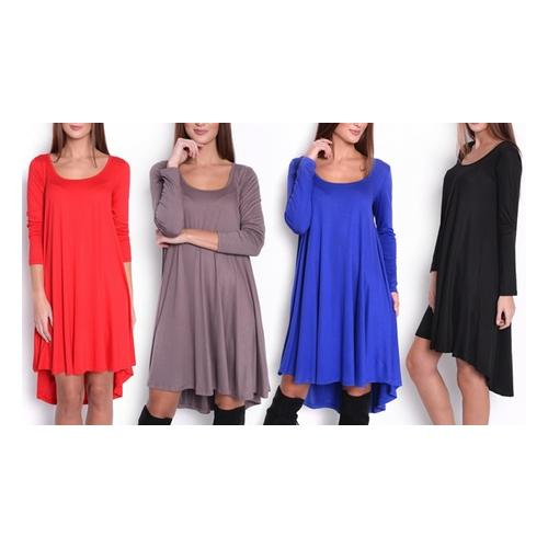 Asymmetrisches Damen-Kleid : Blau/ Gr. S-M