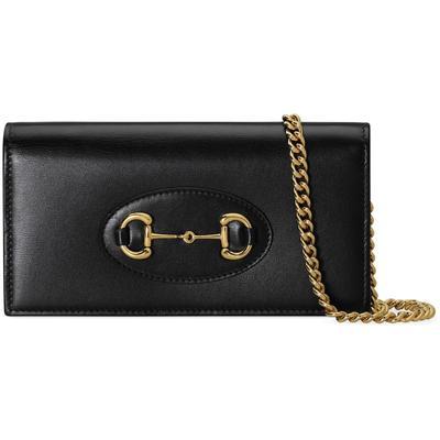 Horsebit 1955 Wallet With Chain - Black - Gucci Shoulder Bags