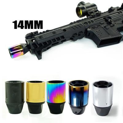 Capuchon de frein à canon à filetage négatif CCW SLR SLH 14mm, accessoires Airsoft AEG GBB AR15