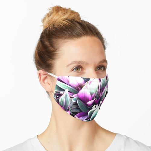 Blühende Rohia - Stachelige Blattpflanze Maske