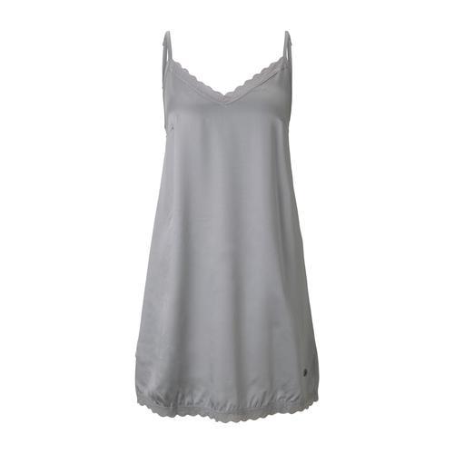 TOM TAILOR Damen Nachthemd mit Spitze, grau, Gr.38