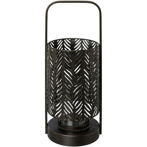 andas Windlicht Jalmar, aus Metall, mit Glaseinsatz schwarz Kerzenhalter Kerzen Laternen Wohnaccessoires