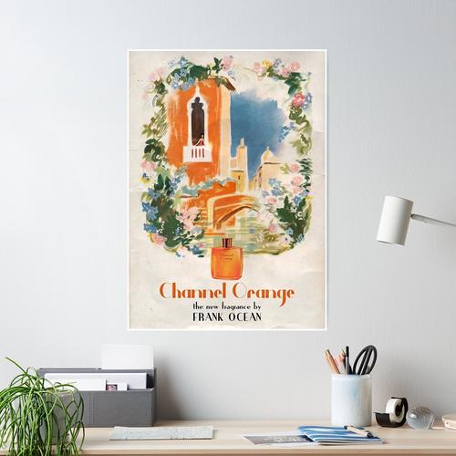 Frank Orange Parfume Poster