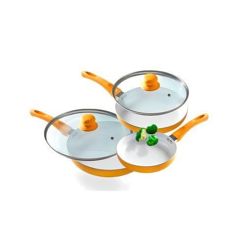 Keramik-Pfannen-Set mit Deckeln: 2