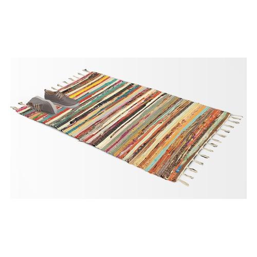 Rechteckiger Chindi-Teppich: 160 x 230 cm