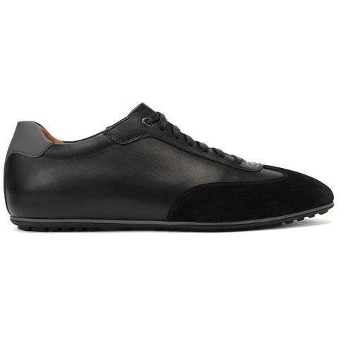 BOSS by Hugo Boss In Italien gefertigte Lowtop Sneakers aus Leder-Mix