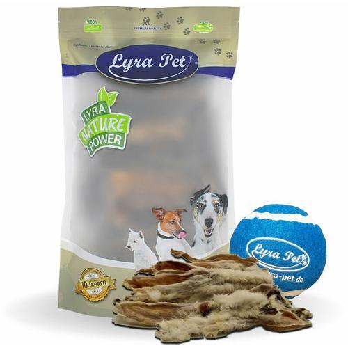 5 kg ® Kaninchenohren mit Fell + Tennis Ball - Lyra Pet