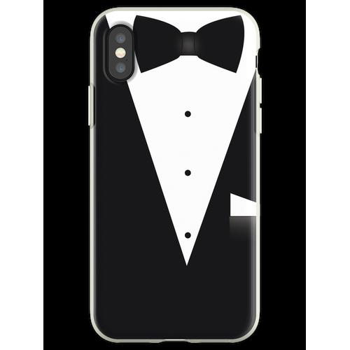 Fliege Anzug Flexible Hülle für iPhone XS