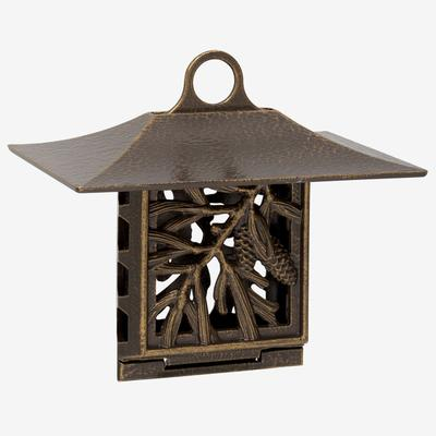 Pinecone Suet Feeder by Whitehall Products in French Bronze