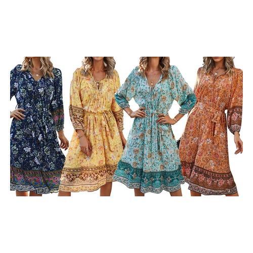 Kleid: Apricot/Gr. XL