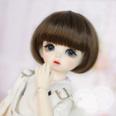 BJD SD – perruque Bob en soie avec cheveux courts, perruque de poupée en fibre de haute température,