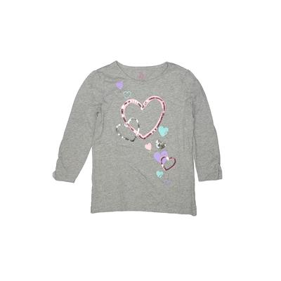 The Children's Place - The Children's Place 3/4 Sleeve T-Shirt: Gray Solid Tops - Size 14