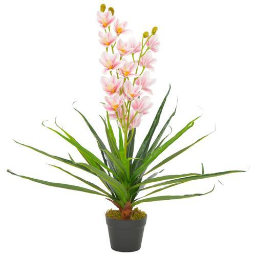 vidaXL Künstliche Orchidee mit Topf Rosa 90 cm