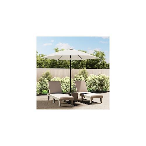 Sonnenschirm Strandschirm Sonnenschutz Garten Schirm Sandweiß 3m