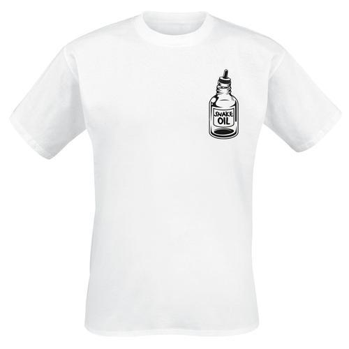 The bearded Phil Beard Oil Herren-T-Shirt - weiß