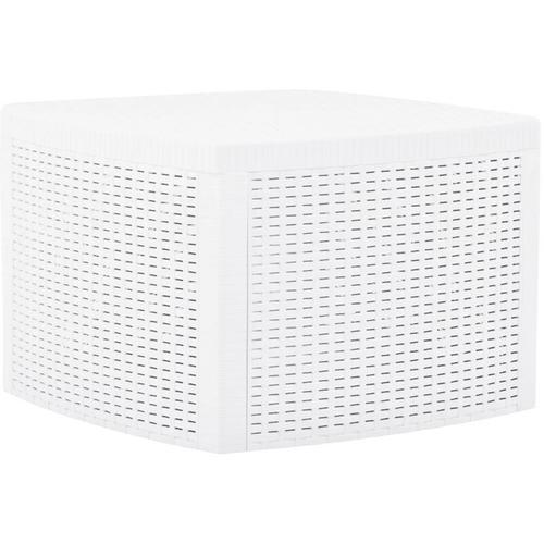 Hommoo Beistelltisch Weiß 54x54x36,5 cm Kunststoff VD46664