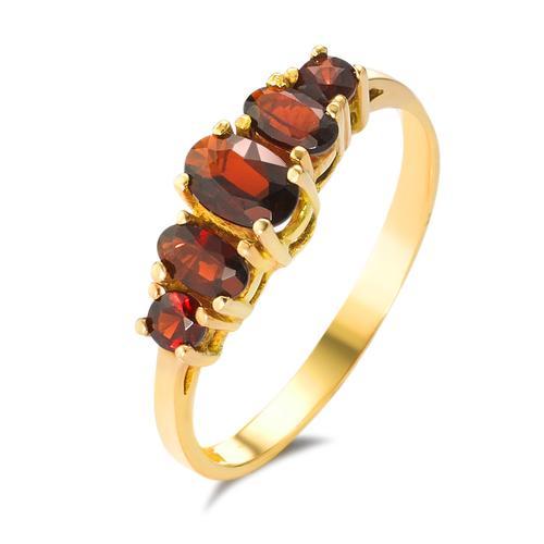 Ring Gold mit Granatsteinen
