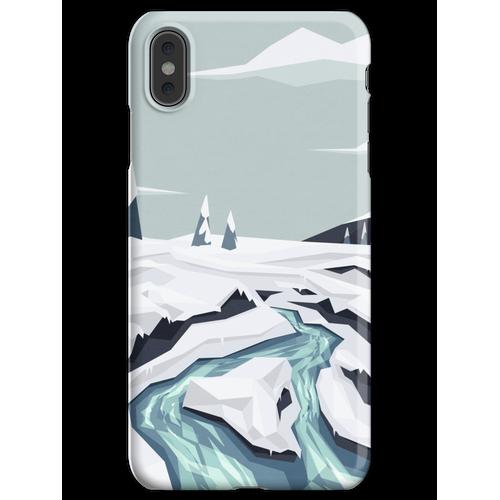Fließender Winterbach iPhone XS Max Handyhülle