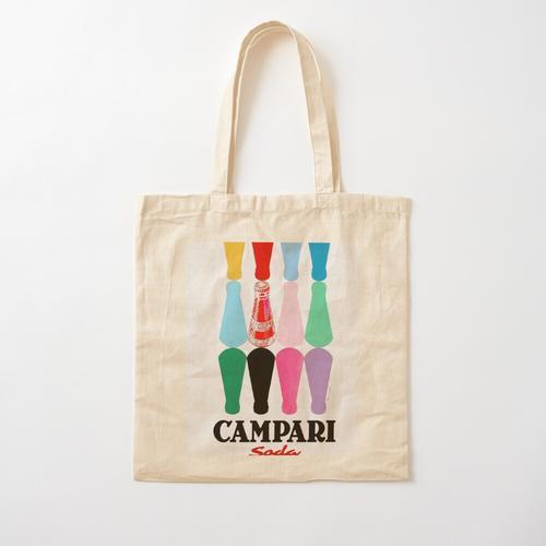 12 Campari-Flaschen Baumwolltasche