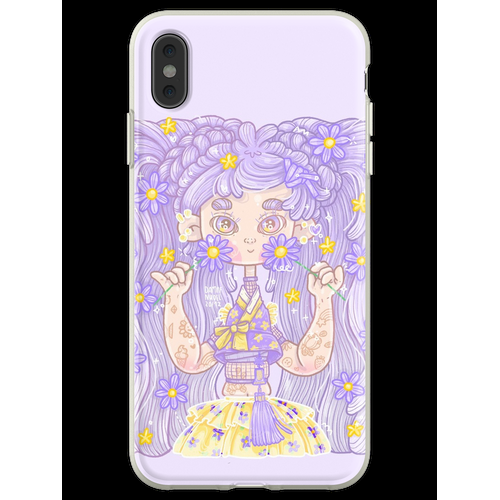 Glitterful Hanbok Girl - purple, by Dampfnudel Flexible Hülle für iPhone XS Max