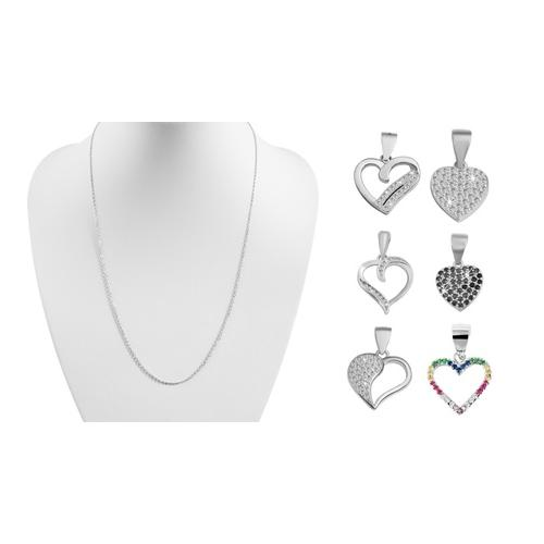 Anhänger in Herzform / Silber / Modell 2