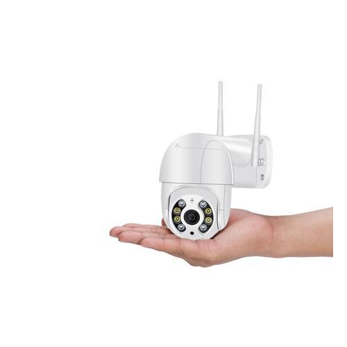 3 MP Überwachungskamera: 2 / weiß / mit 2x 64 GB SD-Karte