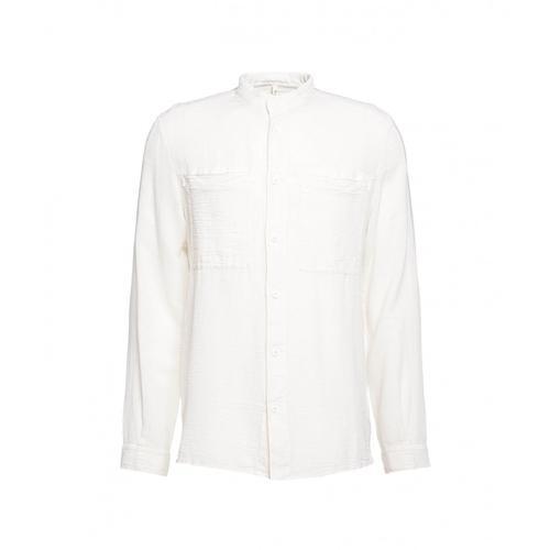 Transit Herren Stehkragen-Hemd Weiß