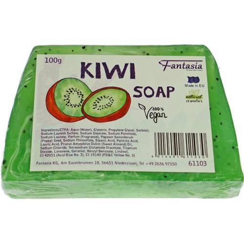 Fantasia Handgearbeitete Seifen 100% Vegan 100 g Kiwi Stückseife