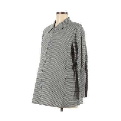 Motherhood Jacket: Ivory Print Jackets & Outerwear - Size Medium Maternity