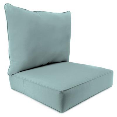Outdoor 2PC Deep Seat Chair Cushion- Sunbrella SHORE LINEN GLEN RAVEN - Jordan Manufacturing 9740PK1-3644H