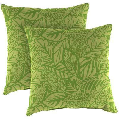 """Outdoor 16"""" Accessory Throw Pillows, Set of 2-MAVEN LEAF RICHLOOM - Jordan Manufacturing 9952PK2-6642D"""