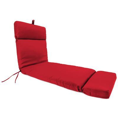 Outdoor French Edge Chaise Lounge Cushion- Sunbrella CANVAS JOCKEY ACR RED ACR GLEN RAVEN - Jordan Manufacturing 9552PK1-873H