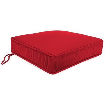 Outdoor Boxed Edge Deep Seat Cushion- Sunbrella CANVAS JOCKEY ACR RED ACR GLEN RAVEN - Jordan Manufacturing 9744PK1-873H