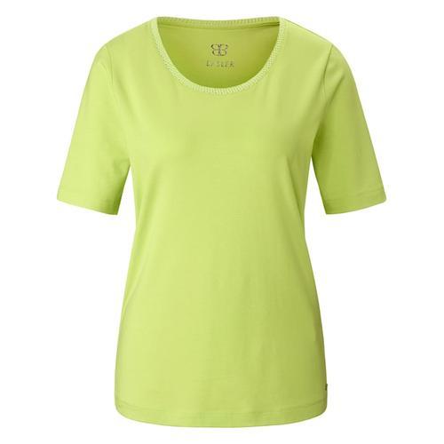 T-Shirt aus unifarbenem Jersey Basler mojito