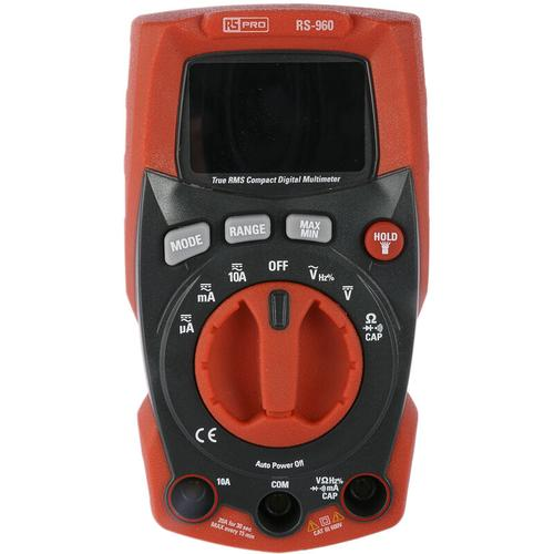RS PRO RS-960, Handheld Multimeter, CAT III 600V ac / 10A ac, 40MΩ