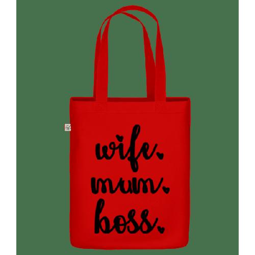 Wife Mum Boss - Bio Tasche