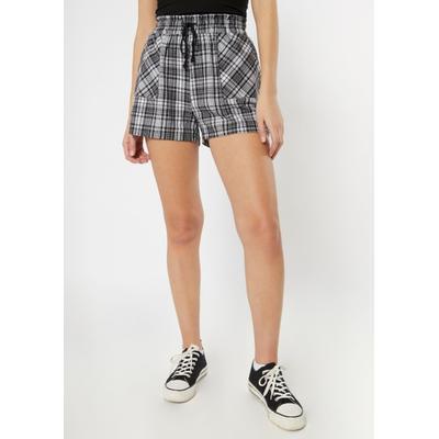 Rue21 Womens Black Plaid Flannel Shorts - Size L