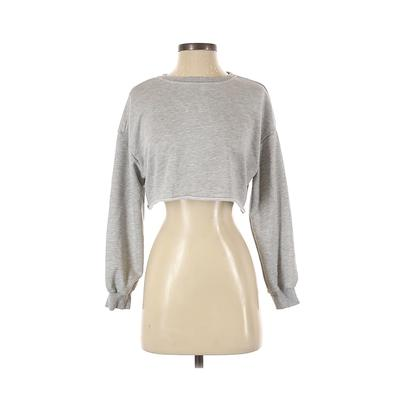 Shein Sweatshirt: Gray Clothing - Size X-Small