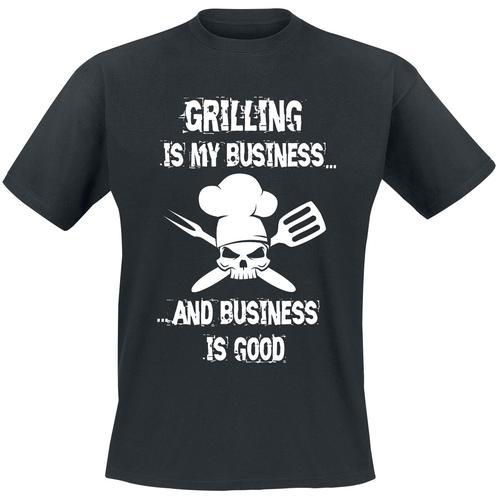 Grilling Is My Business... Herren-T-Shirt - schwarz